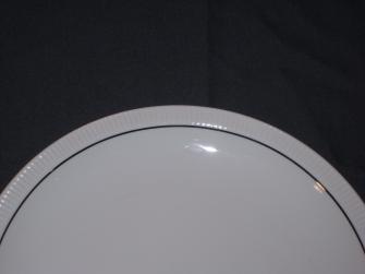 Cannelee wit met zilverkleurig randje