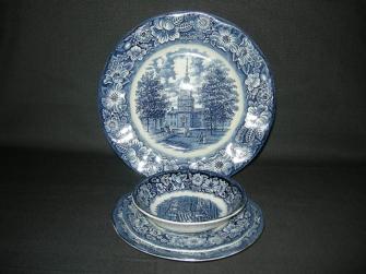 Historic Colonial Scenes blauw