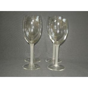 gebruikt glas / kristal 003. a 4 wijnglazen met wit been