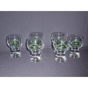 gebruikt glas / kristal 006. 6 glazen Pina Colada