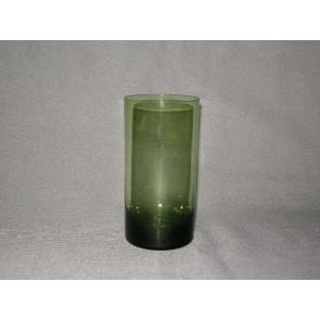 gekleurd glas 1.a beker, doorsnee 6,5 cm., donkergroen