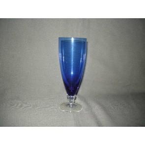 carnavalsglas, doorsnee 6,8 cm., donkerblauw