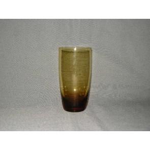 gekleurd glas 3.b  beker, doorsnee 7 cm., okergeel