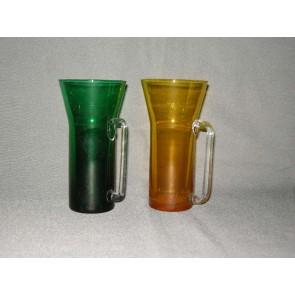 gekleurd glas 17 bekers blank oor