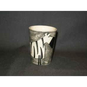 Marchand de Couleurs espressobeker grijs zebra