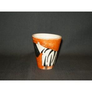 Marchand de Couleurs espressobeker oranje zebra