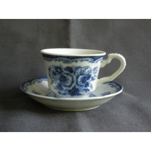 Blue Rose espressokop & schotel