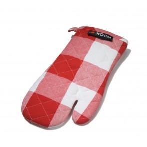 KOOK ovenwant ruit rood / wit