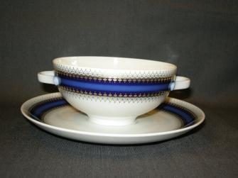 Lorenz wit - kobaltblauwe rand