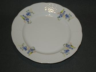 wit met kleine blauwe bloemetjes