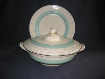 Victorian 765224 roomwit pastelgroen zilver