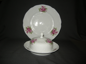 Sanssouci spierwit rose pioenroos