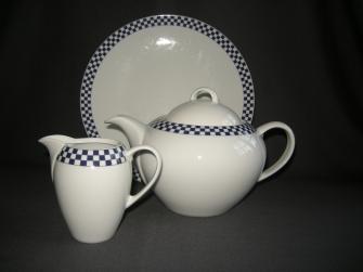 Albert Heijn wit met blauwe blokjes