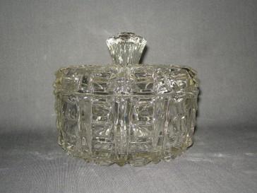 gebruikt glas / kristal dekselschalen 002. koekjesschaal