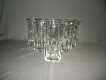 gebruikt glas / kristal 008. 6 hoge water- / wijnglazen