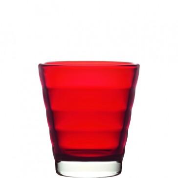 LEONARDO Wave Color laag glas rood
