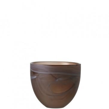LEONARDO Mood theelichthouder hoogte 8 cm kleur bruin