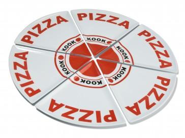 KOOK pizzadoos 6-delig