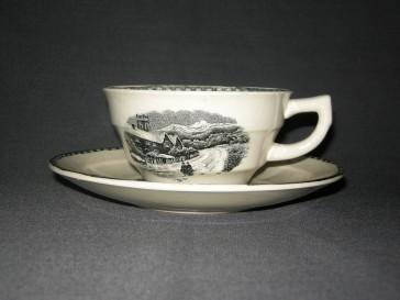 Societe Ceramique Landschap cappuccinokop & schotels