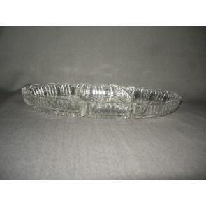 gebruikt glas / kristal presenteerschalen 003. 3-delige presenteerschaal
