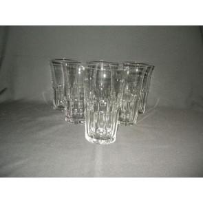 gebruikt glas / kristal glazen 008. 6 hoge water- / wijnglazen