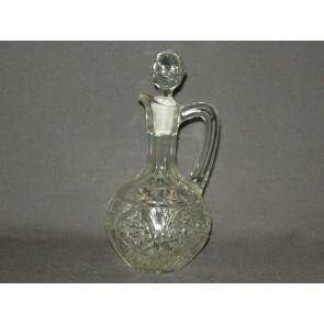 Gebruikt glas / kristal karafje rond bol