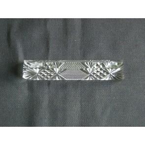Gebruikt glas / kristal messenleggers 01. 12 stuks in doosje