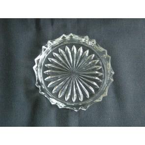 Gebruikt glas / kristal onderzetters 01. 12 stuks in oud doosje