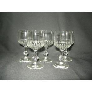 gebruikt glas / kristal 011 b. 5 borrelglaasjes