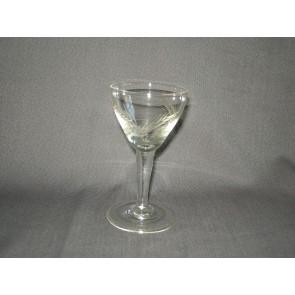 gebruikt glas / kristal 012 b. 5 glaasjes O6,5 cm.
