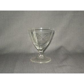 gebruikt glas / kristal glazen 014 a. 2 witte wijnglazen