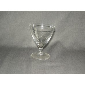 gebruikt glas / kristal glazen 014 c. 3 portglaasjes