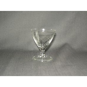 gebruikt glas / kristal glazen 014 d. 5 borrelglaasjes