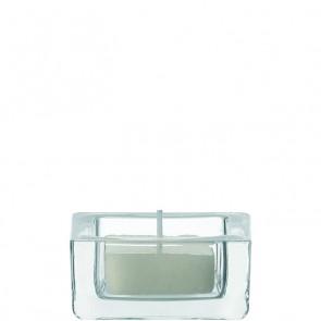 LEONARDO Quad theelichthouder blank doorsnee 6 cm hoogte 3 cm
