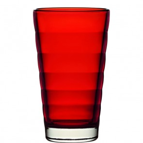LEONARDO Wave Color longdrinkglas rood