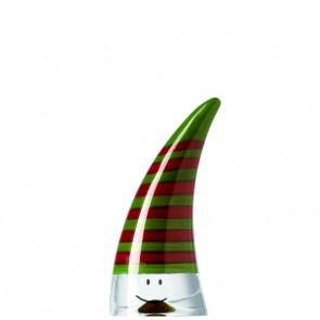 LEONARDO Stardust rood/groene kerstmuts hoogte 11 cm