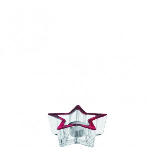 LEONARDO Star theelichthouder met rood accent doorsnee 12 cm