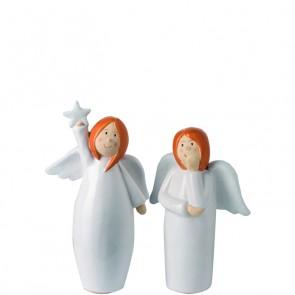 LEONARDO Julika engeltje met hand onder kin hoogte 16 cm