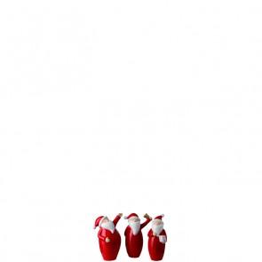 LEONARDO Klaus set van 3 kerstmannetjes hoogte 6 cm