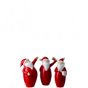 LEONARDO Klaus kerstman met kadootje hoogte 17,5 cm