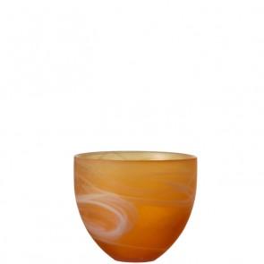 LEONARDO Mood theelichthouder hoogte 8 cm kleur amber