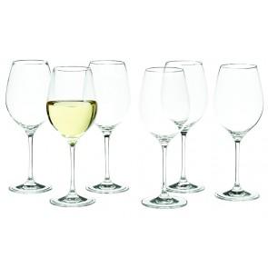 SALT & PEPPER Cuvee set van 6 kleine witte wijnglazen inh 36 cl