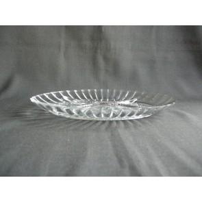 Gebruikt glas - kristal 4-vakschaaltjes 22 x 15 cm.
