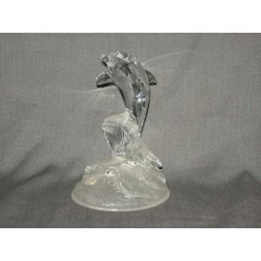 Gebruikt glas / kristal dolfijn