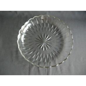 Gebruikt glas - kristal schaal O28,5 cm.
