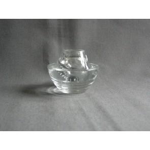 Gebruikt glas - kristal kandelaartje