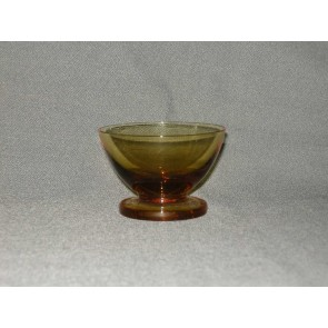 gekleurd glas 6.a coupe, doorsnee 8 cm., okergeel