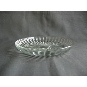 Gebruikt glas - kristal schaaltjes O15 cm.