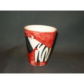 Marchand de Couleurs espressobeker rood zebra