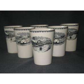 Societe Ceramique Landschap bekers glad